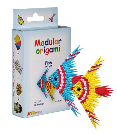 Amazing kit for assembling a modular origami fish