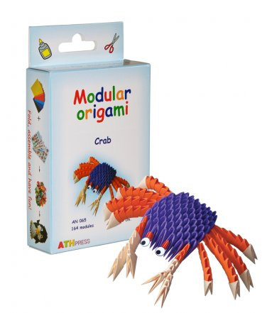 Amazing kit for assembling a modular origami crab