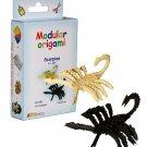 Amazing kit for assembling a modular origami scorpion