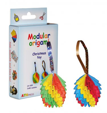 Amazing kit for assembling a modular origami Christmas toy