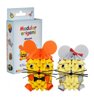 Amazing kit for assembling a modular origami mice