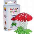 Amazing kit for assembling a modular origami mushroom