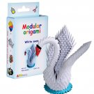 Amazing kit for assembling a modular origami white swan