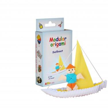 Amazing kit for assembling a modular origami Sailboat