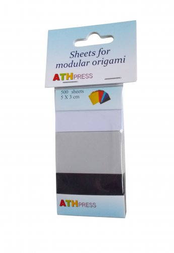 Modular origami sheets -  500 sheets mix  black/grey/white color