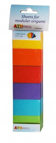 Modular origami sheets -  1000 sheets mix intensive colors