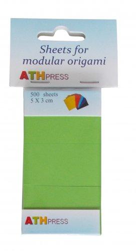 Modular origami sheets -  500 sheets spring green color
