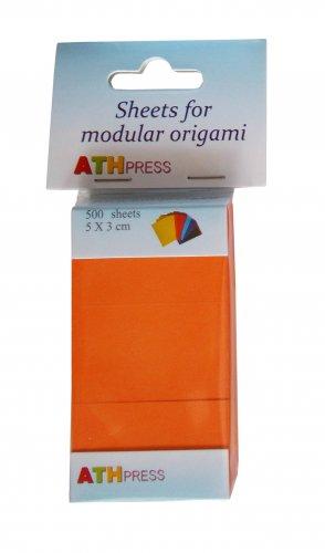 Modular origami sheets -  500 sheets orange color
