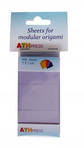 Modular origami sheets -  500 sheets lavender color