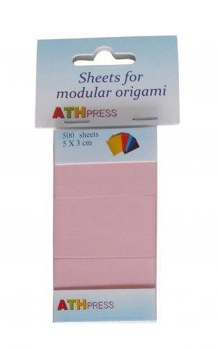 Modular origami sheets -  500 sheets flamingo color