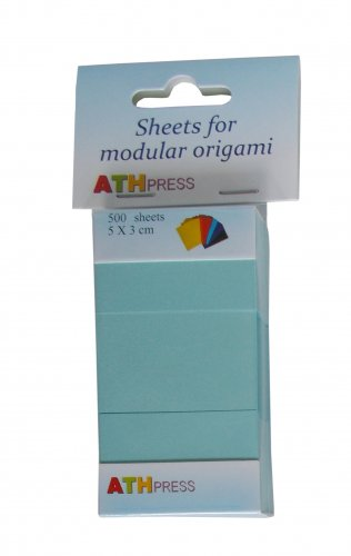 Modular origami sheets -  500 sheets medium blue color