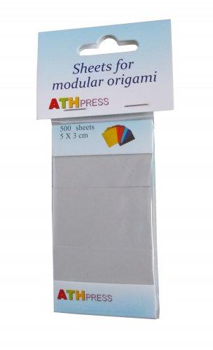 Modular origami sheets -  500 sheets grey color