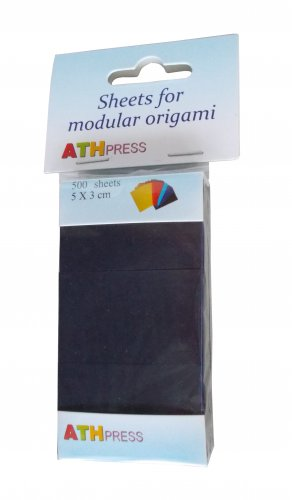 Modular origami sheets -  500 sheets black color