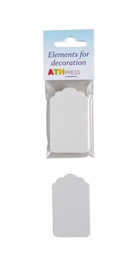 Ready-made elements for cards - Tags - 5 pcs./pack