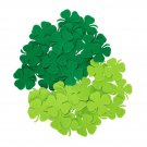 24 pcs Felt  2 mm  38/38mm Shapes Die Cut Clovers / Shamrock  for your creative projects