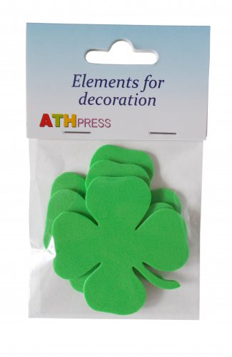 24 pcs EVA foam  65/65mm Shapes Die Cut Clovers / Shamrock for your creative projects