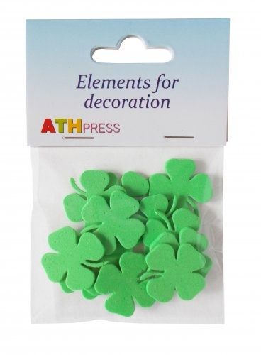 24 pcs EVA foam  38/38mm Shapes Die Cut Clovers / Shamrock for your creative projects