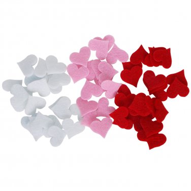 48 pcs Felt 2 mm Hearts Shapes 35/32mm  Die Cut for your creative projects