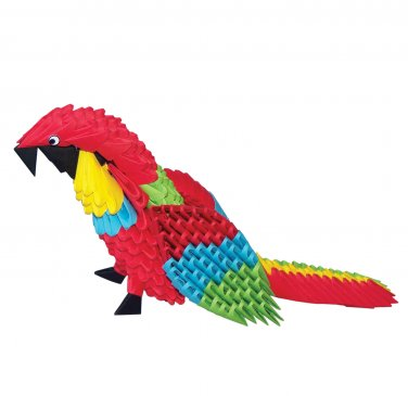 Amazing  gift - parrot 3D modular origami