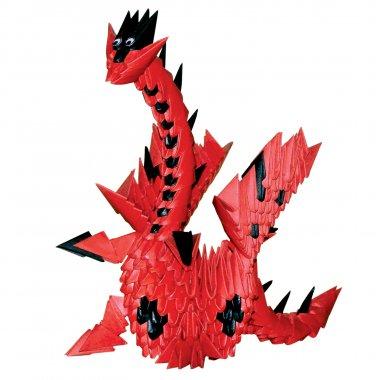 Amazing  gift - Red dragon 3D modular origami