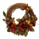 """Wreath Autumn Harvest Handmade Home Floral Decor 18"""""""