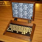iCog Hades for Apple iPad Air/5 Wooden Steampunk Case w/ Bluetooth Keyboard (Built to order: 4 wks)