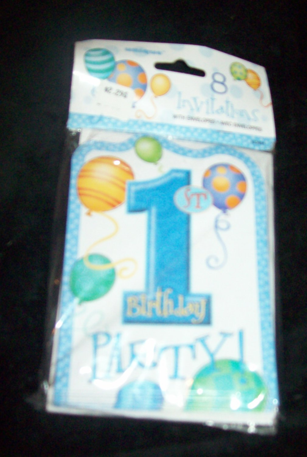 Baby Boy 1st First Birthday Party 8 Invitations Shower With Envelopes Free Ship
