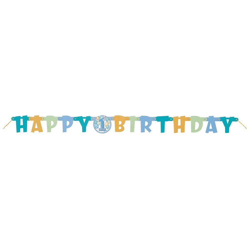 Baby Boy First 1st HAPPY BIRTHDAY Banner Party Shower Free Shipping