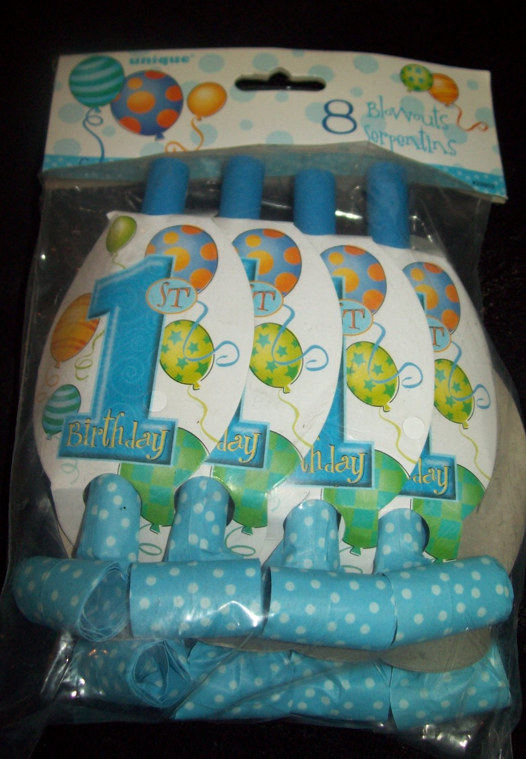 Baby Boy First 1st HAPPY BIRTHDAY 8 Blowouts Party Shower Free Shipping