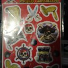 Pirate Bounty Party Supplies Stickers Boy FREE SHIPPING
