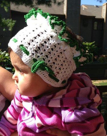 PATTERN - White baby Bandana