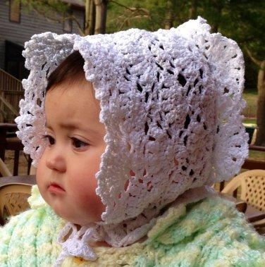 PATTERN - Christenning Bonnet