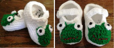 Frog Crib baby Shoes