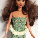 Barbie doll Olive Dress