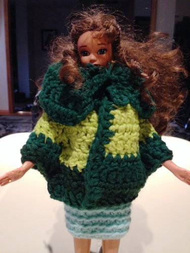 Barbie doll Green Cape