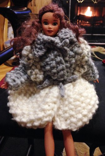 Barbie doll Knitted Winter Coat