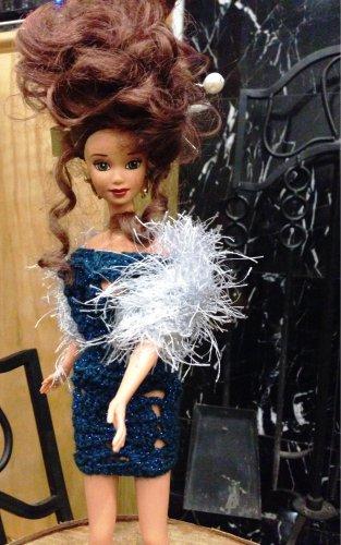 Barbie doll Blue Party Dress