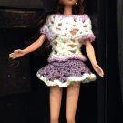 Barbie doll Crochet Lavender Set: Top and Skirt
