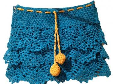 PATTERN - Blue Ruffle Skirt for girls