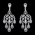 5 Carat LARGE Diamonds Chandelier Earrings White Gold Women Jewelry Dangling