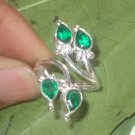 Diopside Quartz Ring - Silver Ring Bezel Setting Ring Gemstone Ring - Adjustable