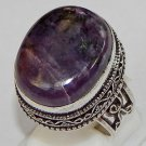 Father's Day Special Rare Sugilite 925 Sterling Silver Overlay Ring Size 10 New