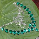 Russian Chrome Diopside Quartz 925 Silver Necklace Adjustable Size 18.5""