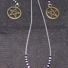 Pentacle Necklace and Earring Combo