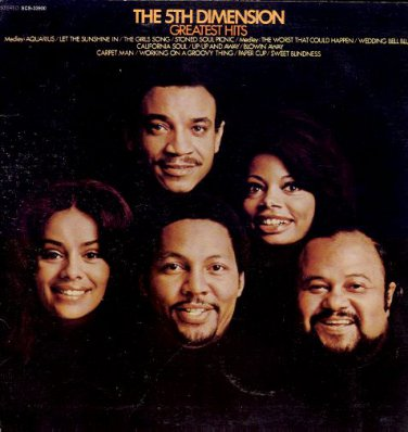 THE 5TH DIMENSION - Greatest Hits - 1970 LP (Soul City Records - SCS-33900)