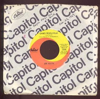 JOE SOUTH - Games People Play / Mirror of Your Mind - 45rpm Record