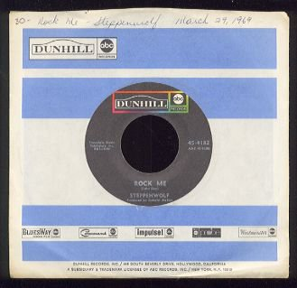 STEPPENWOLF - Rock Me / Jupiter Child - 45rpm Record