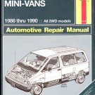 Haynes Repair Manual - Ford AEROSTAR Mini-Vans (1986-1990) - (Softcover, 1990)