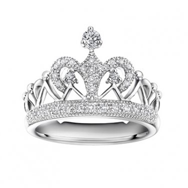 0.29cttw Diamond Crown Of Queen Princess Tiara Proposal Wedding Bridal Promise Ring S04728R