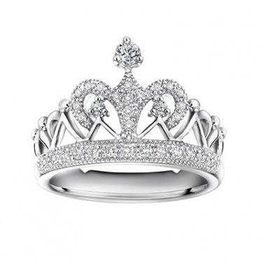 0 29cttw Diamond Crown Of Queen Princess Tiara Proposal Wedding Bridal Promise Ring S04728r